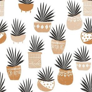 linocut plant life fabric, plants fabric, home decor fabric, linocut fabric, hand printed fabric, plants, trendy plants, 2019 trends fabric - andrea lauren - terra