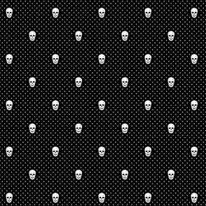 Moriarty Skull Polka Dots (Black)