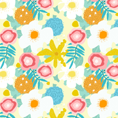 SPRING FLORAL pale yellow