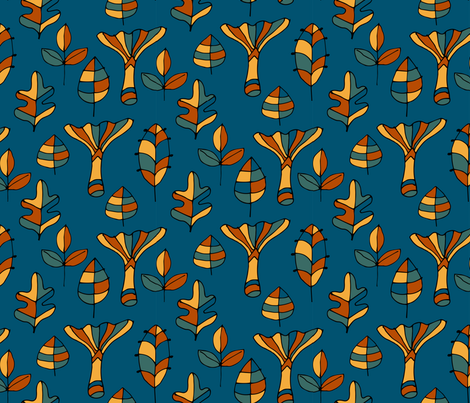 Into the woods fabric by snowflower on Spoonflower - custom fabric