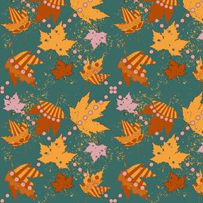 festive falling leaves