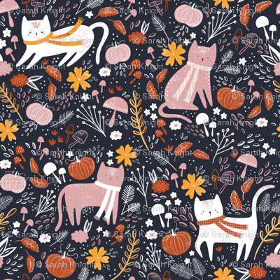 Pumpkin patch kitties - navy