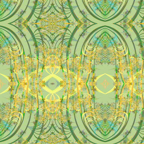 Spring Eyes and Fluff Fractal fabric by eclectic_house on Spoonflower - custom fabric