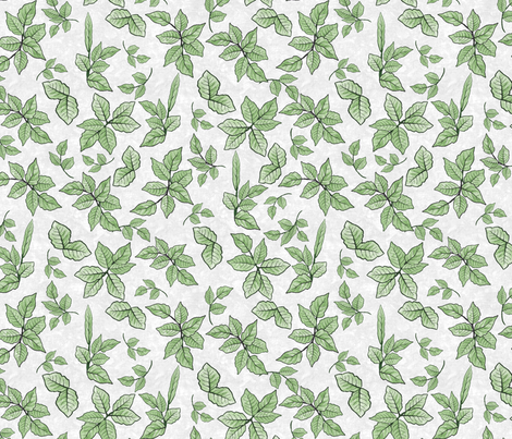 Scattered Foliage fabric by andrusgardens on Spoonflower - custom fabric