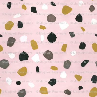 terrazzo big pink wallpaper - marjolein_in_wonderland