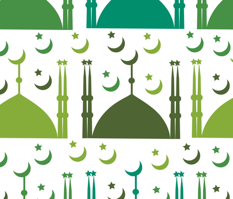 Islamic Mosque fabric by puggy_bubbles on Spoonflower - custom fabric