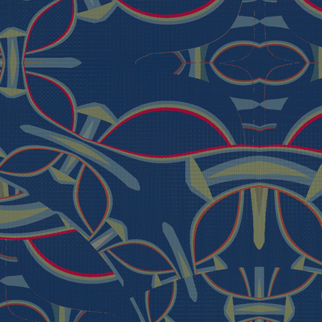 Moonsheaves Campaign (Navy) fabric by david_kent_collections on Spoonflower - custom fabric