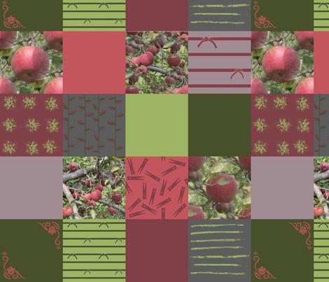 "4"" Wholecloth Patchwork: Harvest | Cider Apple fabric by lochnestfarm on Spoonflower - custom fabric"