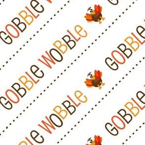 Thanksgiving  Turkey Gobble Wobble Thanksgiving Pattern Diagonal Brown Fall Colors