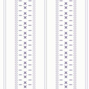 Cross Ladder Stripe: Violet Purple Farmhouse Stripe