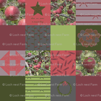 """4"""" Wholecloth Patchwork: Eclectic Solstice   Cider Apple"""