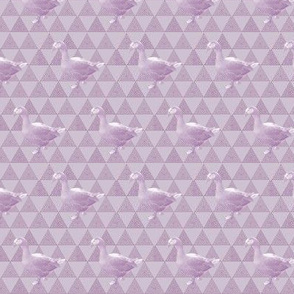 Not-So-Flying Geese | Tone-on-Tone Lavender Print