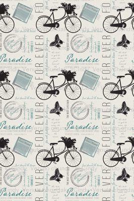 Just Around the Corner, French style, Paradise, Teal