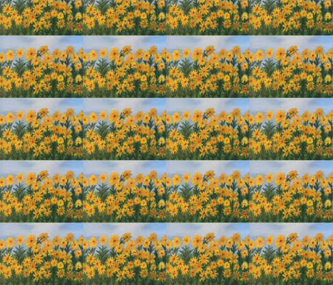 Sunflowers fabric by mary'sart on Spoonflower - custom fabric