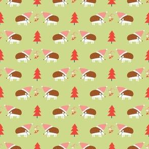 Holiday Hedgehogs green ©Solvejg Makaretz