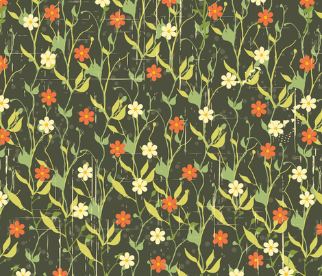 Vintage Flowers fabric by puggy_bubbles on Spoonflower - custom fabric