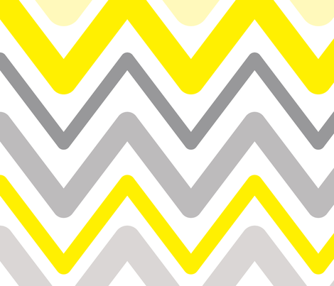 Soft Chevron Waves Large Scale fabric by vintage_style on Spoonflower - custom fabric