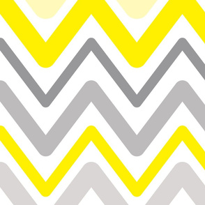 Soft Chevron Waves Large Scale Yellow
