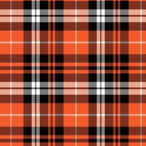 (small scale) pumpkin fall plaid || orange,black,white C18BS
