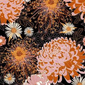 Japanese Chrysanthemums (black) V2 large