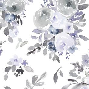 Pastel Blue Florals