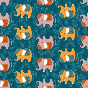 Decorative Elephants Pattern