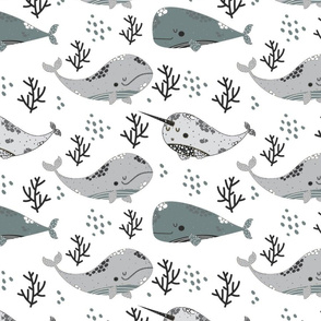 Whale of a Time (Grey)