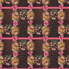 Leopard Rose Plaid