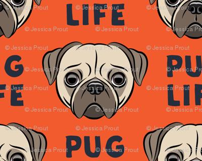 Pug Life - cute pug face