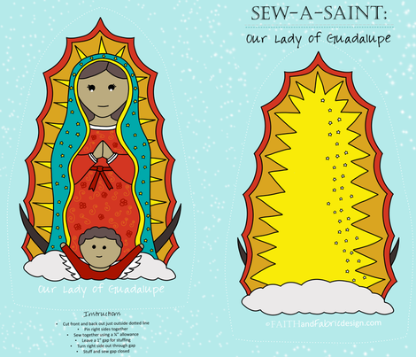 Sew-a-Saint: Our Lady of Guadalupe fabric by faithandfabric on Spoonflower - custom fabric
