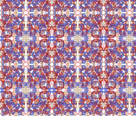 Red and Purple Multi fabric by lerelle_designs on Spoonflower - custom fabric