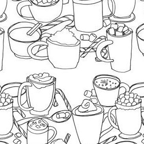 Hot Cocoa (for coloring!)