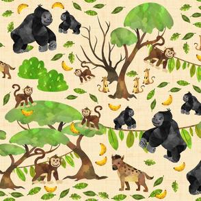 Monkeying Around Tan