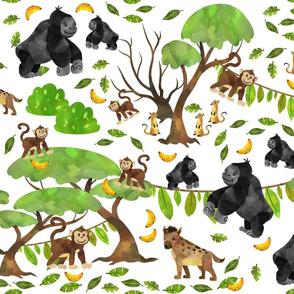 Monkeying Around White