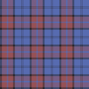 "Dunbar tartan, 6"", custom colorway soft red/blue"