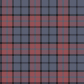 "Dunbar tartan, 6"", custom colorway soft red/slate"
