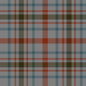 "MacDonagh tartan - 10"" weathered on dark grey"