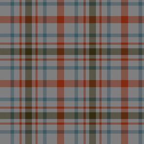 "MacDonagh tartan - 8"" weathered on dark grey"