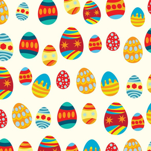 Colorful eggs display