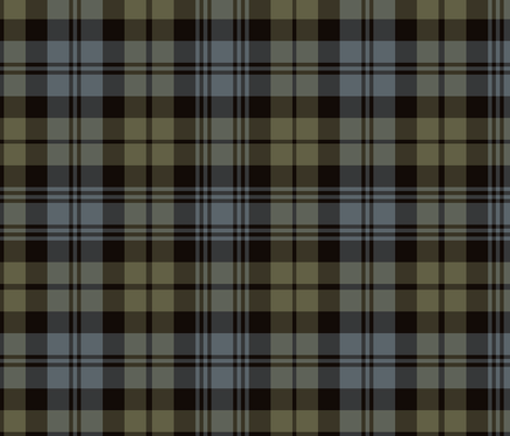 "Black Watch tartan, 12"" weathered fabric by weavingmajor on Spoonflower - custom fabric"