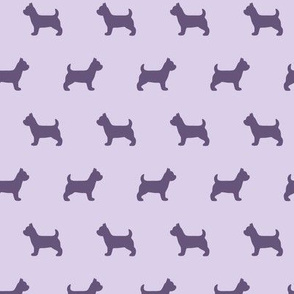 Yorkshire Terrier Silhouette Purple