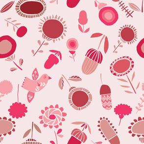 Pink folk garden