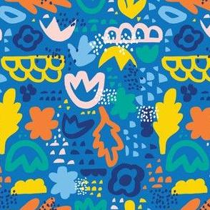Papercut Bits - Blue Multi