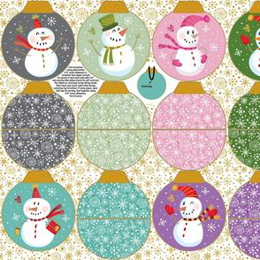 Snowmen Ornament Pouches-Mix