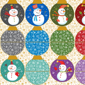 Festive Snowman Ornament Pouches
