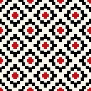 Poppy, black + off-white geometric West by Southwest by Su_G