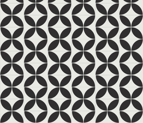 Reverse Black Circle 2 fabric by the_outfoxed on Spoonflower - custom fabric