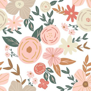 Vintage Neutral Florals