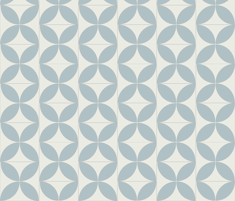 Reverse Blue Circle 2 fabric by the_outfoxed on Spoonflower - custom fabric