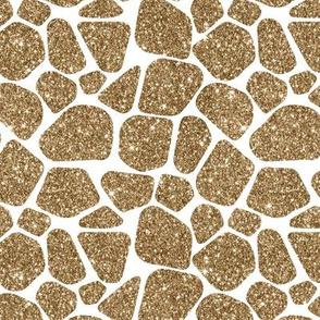 giraffe gold glitter on white
